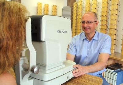 Augentest bei Optik Herrmann in Bodenmais